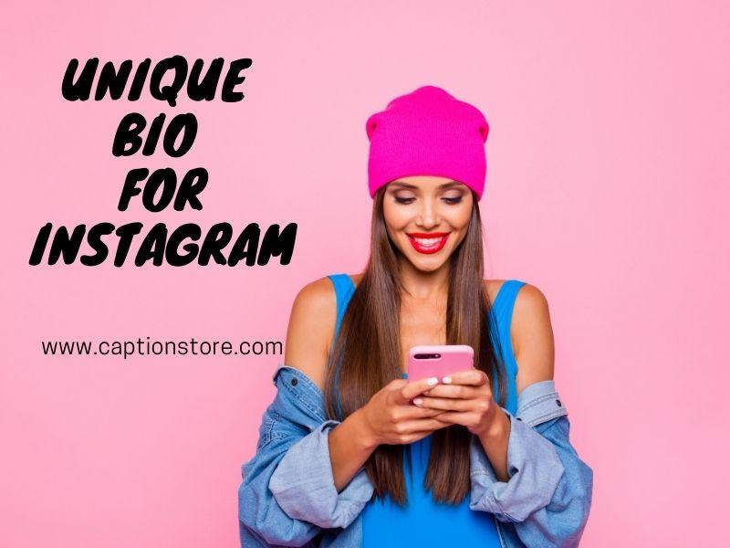 Unique bio for instagram
